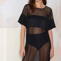Motel Arrow Mesh Swim Cover Up
