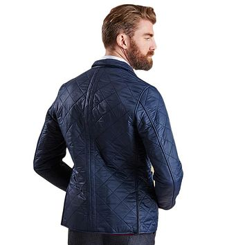 Racer Quilted Jacket in Navy by Barbour - FINAL SALE