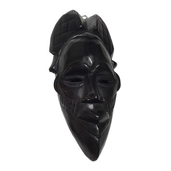 "🎁 ONE DAY SALE 12"" African Wood Mask in Black"
