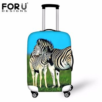 FORUDESIGNS Travel Accessories Luggage Protective Cover 3D Horse Animal Elastic Suitcase Rain Covers For 18-30 Inch Trolley Case
