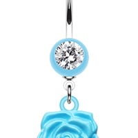 Immortal Rose Belly Button Ring