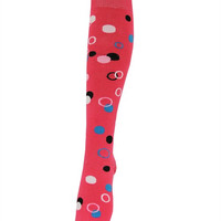 Pink Colored Polka Dots Knee or Thigh High Socks