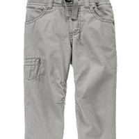 Ribbed Waist Cargo Pants