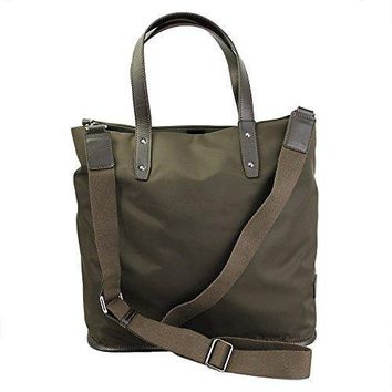 Dolce & Gabbana Brown Nylon Tote Bag With Shoulder Strap Bm1125 B9206 80057