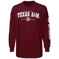 Texas A&M Aggies Youth Double Hit III Long Sleeve T-Shirt - Maroon