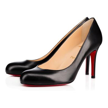 Christian Louboutin Cl Simple Pump Black Leather Pumps 3160586bk01 -