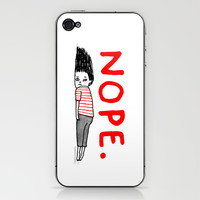 That January Feeling iPhone & iPod Skin by Gemma Correll