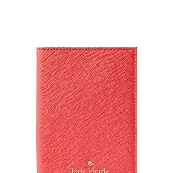 LMFON2D Kate Spade New York Mikas Pond Passport Holder in Saffiano Leather