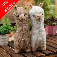 Cute alpaca plush doll