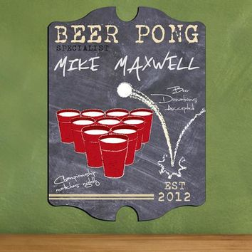 Vintage Beer Pong Sign - Specialist