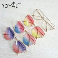 High Quality Vintage Women Sunglasses Metal Frame Cat eye Sun glasses Ombre Shades ss720