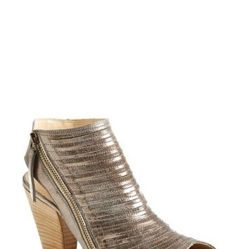 "Women's Paul Green 'Cayanne' Leather Peep Toe Sandal, 3"" heel"