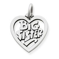 """Big Sister"" Heart Charm 