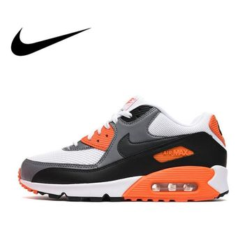 Original Authentic NIKE Men s AIR MAX 90 ESSENTIAL Breathable Ru 42a28c5f6