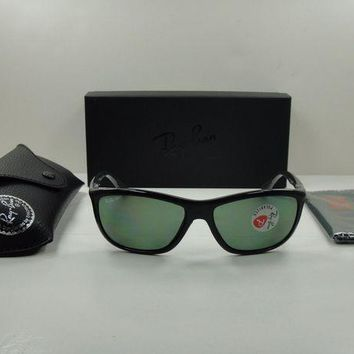 Kalete RAY-BAN TECH SUNGLASSES RB8351 62199A BLACK/GREEN POLARIZED LENS 60MM NEW