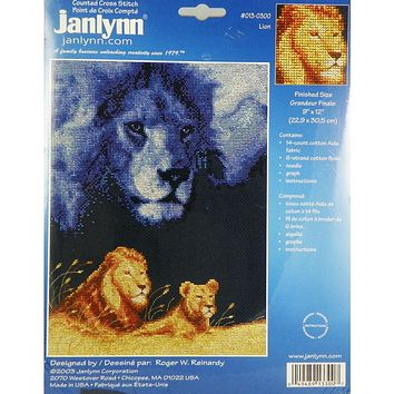 Lion - Counted Cross Stitch Kit - Janlynn