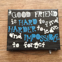 Best friends picture frames / sayings / handpainted picture frames / best friend gifts / handmade picture frames / best friends forever
