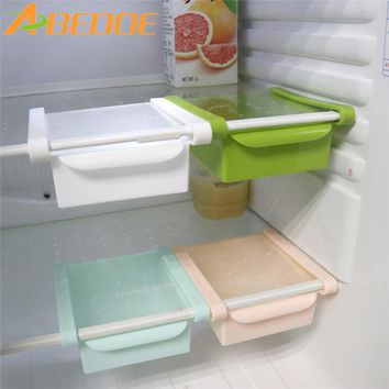 ABEDOE Slide Fridge Storage Rake Freezer Food Storage Boxes Pantry Storage Organizer Bins Container Space-saving Fridge Storage