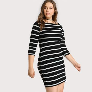 Milan Striped Dress