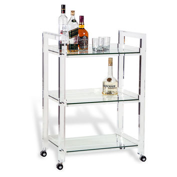Olivia Bar Cart, Acrylic / Lucite, Bar Carts