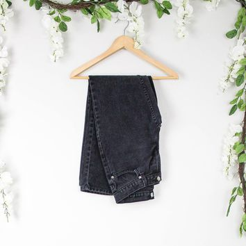 Vintage 26/27 Black High Waisted Jeans