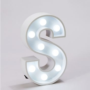 Initial S Marquee Light
