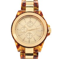 ASOS Tortoise Shell Boyfriend Style Watch at asos.com