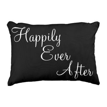 Happily Ever After Quote Accent Pillow