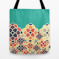 Spring Garden Tote Bag by VessDSign | Society6
