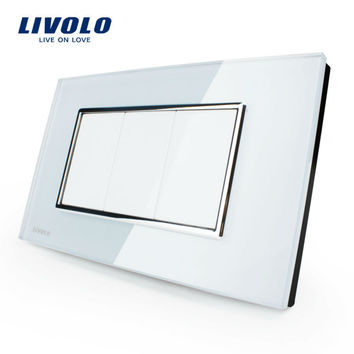 Livolo Us Standard Switch All Blank Socket Vl-C300-81 White Crystal Glass Panel