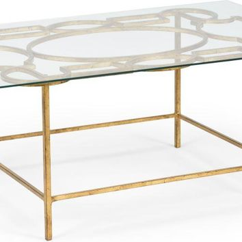 Charming Tracery Cocktail Table   Gold