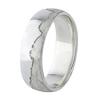 Coast Ring - Sterling Silver - Mens Wedding Ring - Custom Made