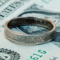 $36.00 Quarter Ring Handmade from Genuine US Coin Unisex by metalsmitten