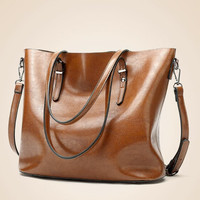 Womens Large Tote Bag with Buckles