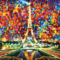 Paris Of My Dreams - oil painting by Leonid Afremov