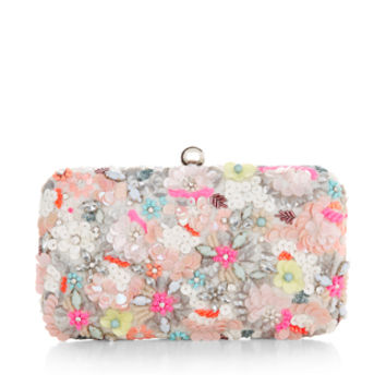Neon Floral Hardcase Clutch Bag | Multi | Accessorize