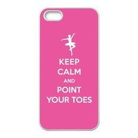 Ballet girl dance pink design Case Cover for iPhone 5S - Keep Calm and Point Your Toes