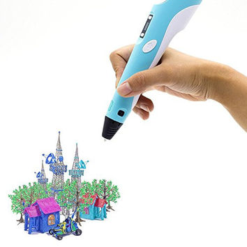 3D Printer  Printing / Drawering Pen ( LCD Screen and Doodle Model ) Making Arts & Crafts Drawing with 3 Differend Color 1.75mm ABS Material ( 10 feet each )
