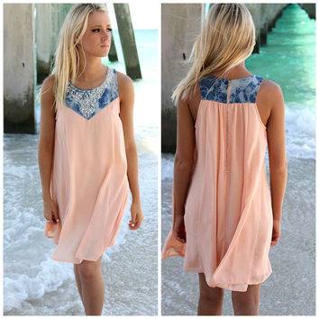 Fashion Sleeveless Scoop Short Beach Sress