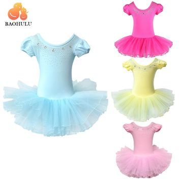 BAOHULUCute Girls Ballet Dress for Children Girl Dance Clothing Kids Ballet Costumes for Girls Dance Leotard Girl Dancewear