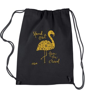Flamingo Stand Out From The Crowd Drawstring Backpack