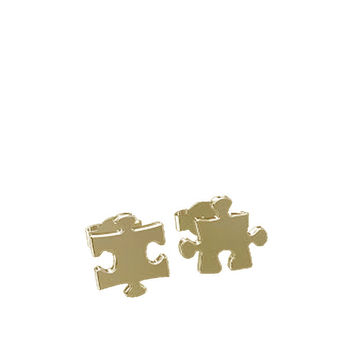 PUZZLE STUD EARRINGS - GOLD