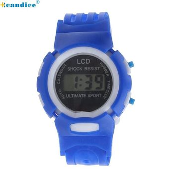 Splendid Boys Girls Students Time Clock Electronic Digital LCD Wrist Sport Watch