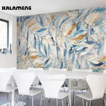 KALAMENG Custom Modern Luxury Photo Wall Mural 3D Wallpaper Papel De Parede  Living Room Tv Backdrop Wall Paper Of Cold Leaves