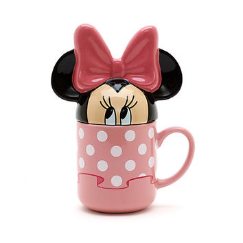 Minnie Mouse Figural Mug with Lid
