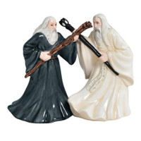 Lord Of The Rings Gandalf & Saruman Salt & Pepper Shakers