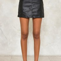 Date With the Night Vegan Leather Skirt