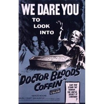 Doctor Bloods Coffin Movie Metal Sign Wall Art 8in x 12in