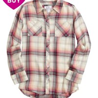 DOUBLE POCKET PLAID BUTTON UP SHIRT | GIRLS CLOTHES {PARENT_CATEGORY} | SHOP JUSTICE