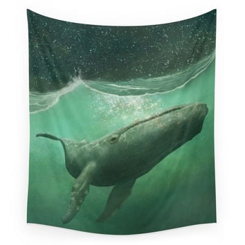 Society6 The Whale & The Moon Wall Tapestry